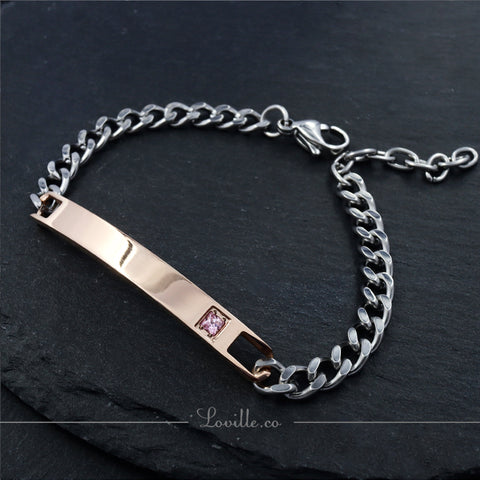 (Rose Gold) Fanta Engravable Bracelet