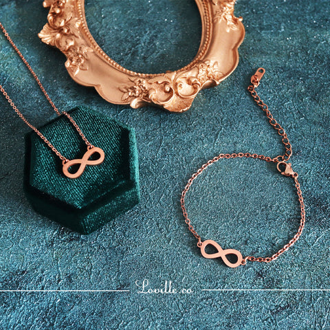 (Rose Gold) Infinity Set