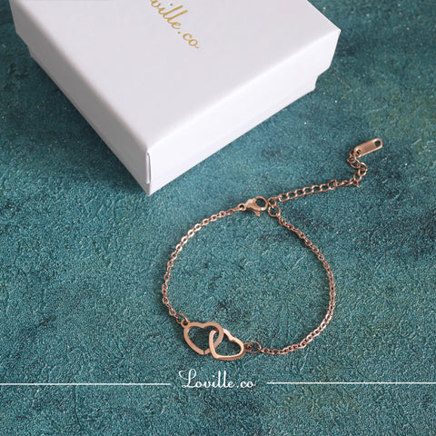 (Rose Gold) Gloria Interlock Bracelet