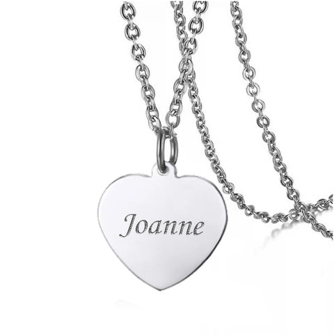 Beau Love Heart Engravable Necklace - Loville.co
