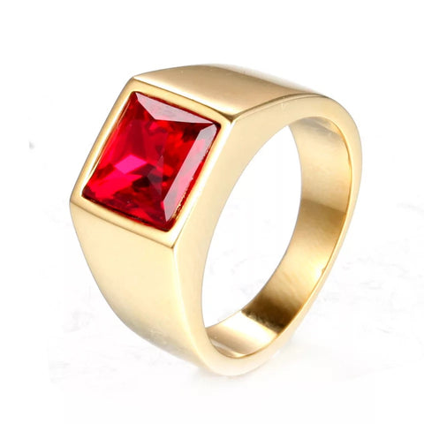 (Ruby Gold) Futurist Ring - Loville.co