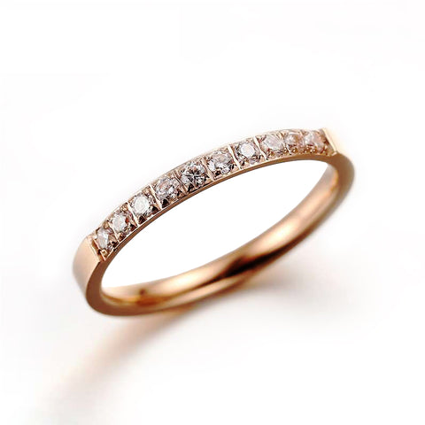 (Rose Gold) Yumie Engagement Ring - Loville.co