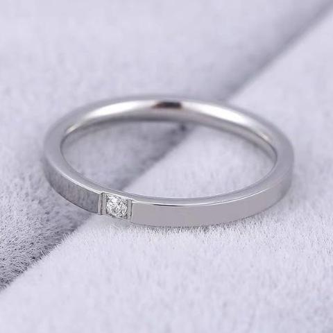 (Silver) Ally Engagement Ring - Loville.co