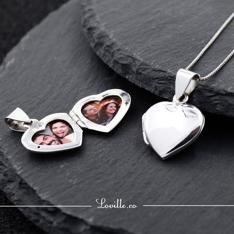 Diva Heart Locket Engravable Necklace - Loville.co