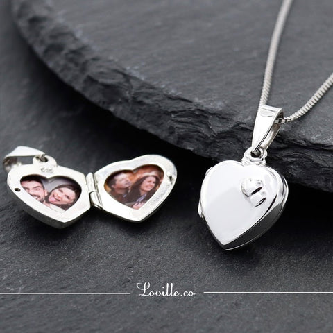 Heart to Heart Locket Engravable Necklace - Loville.co
