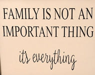 Family is Not an Important Thing