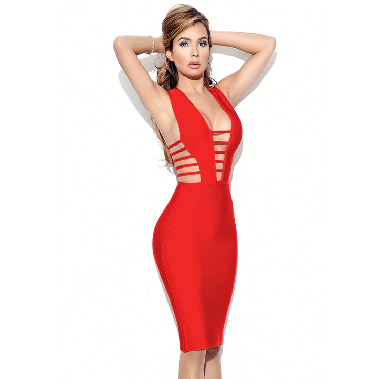 V NECK BLOODY BODYSUIT DRESS