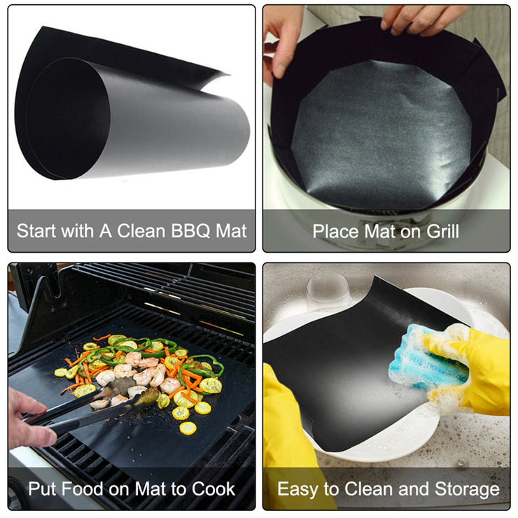 NON-STICKY RE-USABLE BBQ GRILL MAT