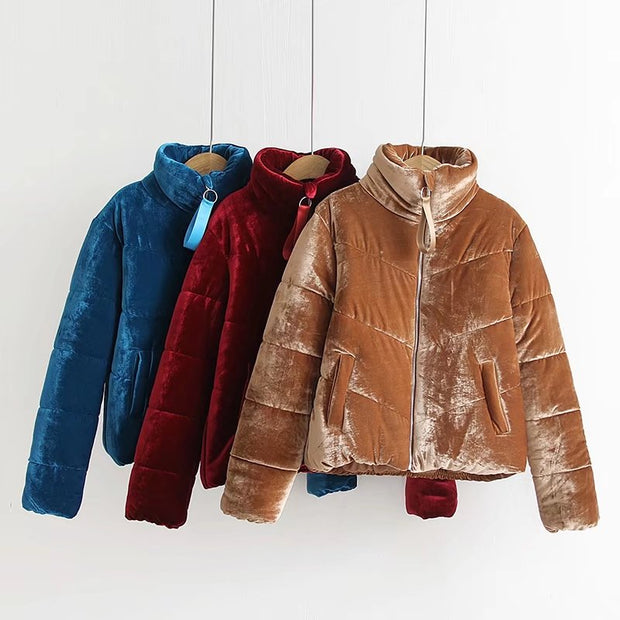 VELVET PADDED JACKET