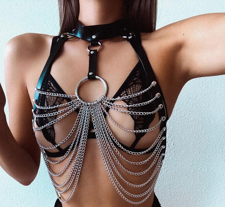LUSCIOUS LEATHER BODY HARNESS