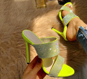 GREEN SPARK STILLETTOS