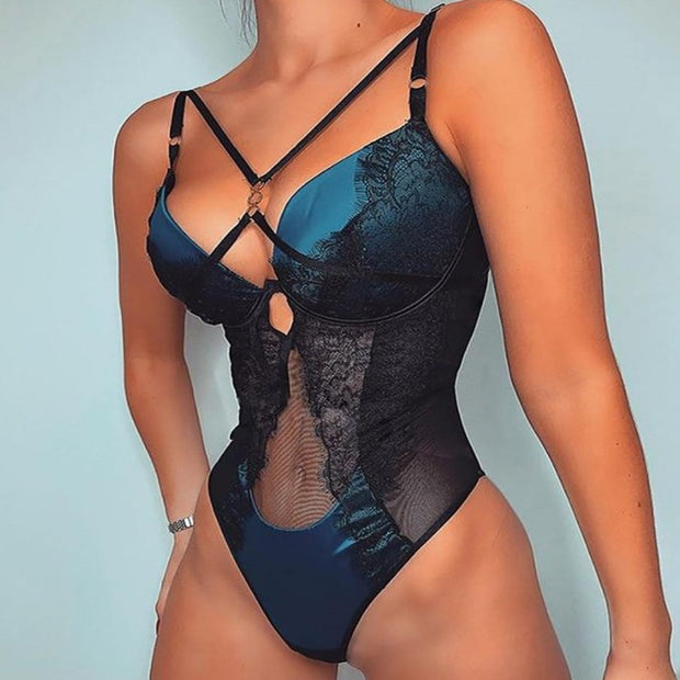 BLUE KISSES BODYSUIT