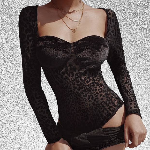 APRIL LEOPARD PRINT BODYSUIT
