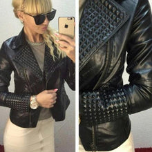 STAR STUDDED FAUX LEATHER JACKET