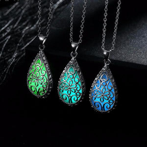 Free! Glow In The Dark Water Drop Necklace