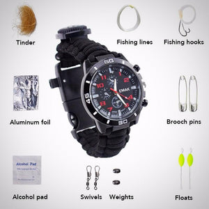 7 in 1! Multi-functional Survival Watch