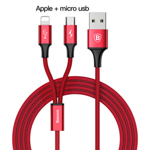 3 in 1 USB Charger For iPhone, Samsung & Huawei
