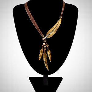Vintage Feather Statement Necklaces