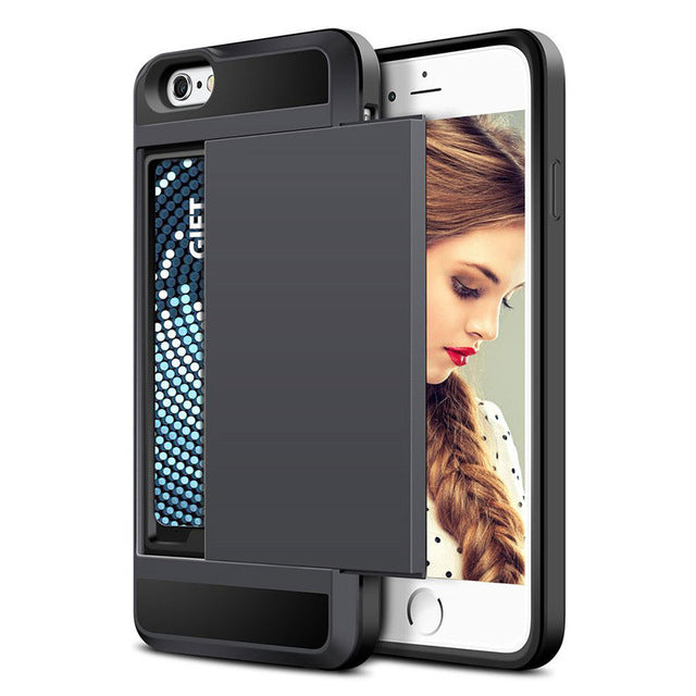 Free! Shockproof iPhone Case with Credit Card Slot