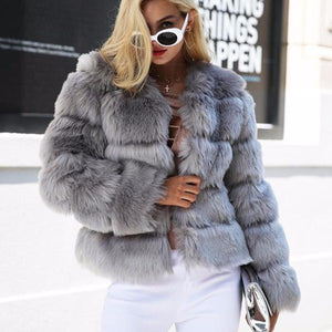 Women's Fluffy Faux Fur Coat