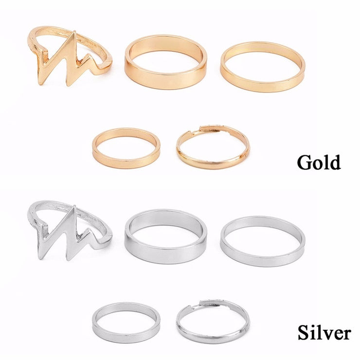 WAVE FINGER RINGS (SET)