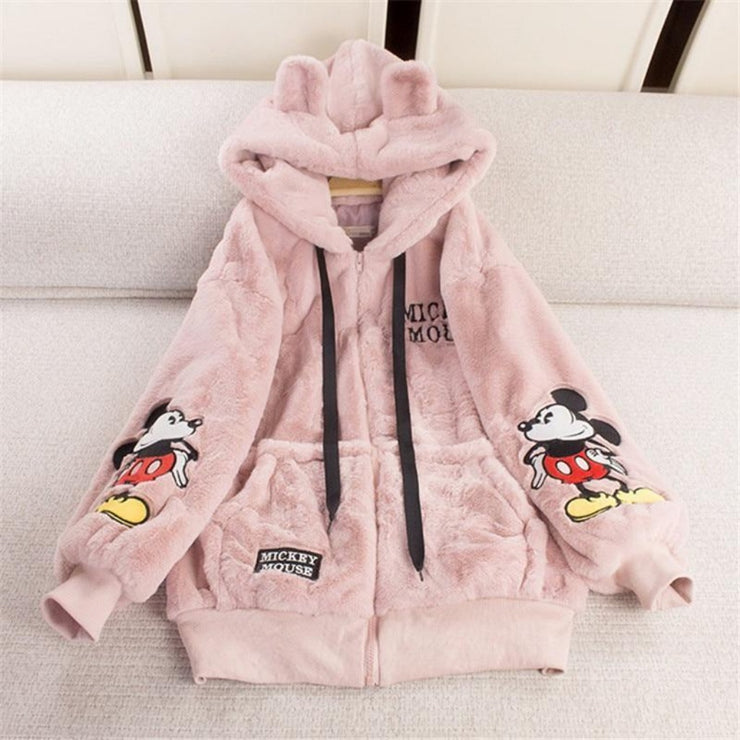 MINNIE'S FUR HOODY