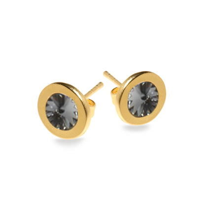 Black Diamond Halo Earrings - SEA Smadar Eliasaf