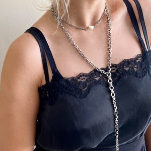 Long Chain Necklace - Silver - SEA Smadar Eliasaf