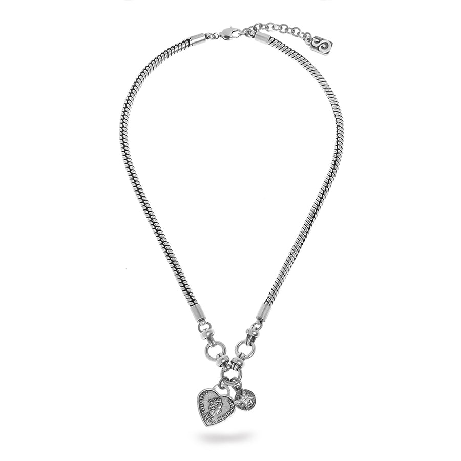 Madonna Necklace - Heart & Star - SEA Smadar Eliasaf