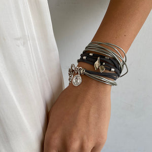 Light Grey Ivy Pop Bracelet - Silver - SEA Smadar Eliasaf