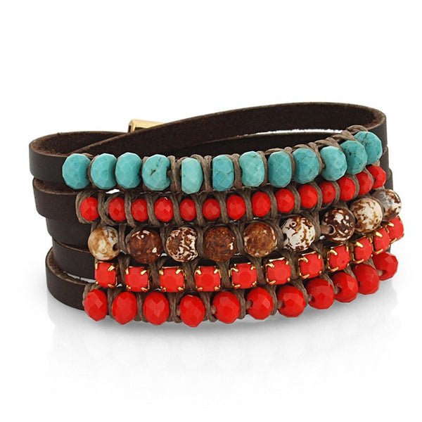 Stoned Bracelet - Red - SEA Smadar Eliasaf