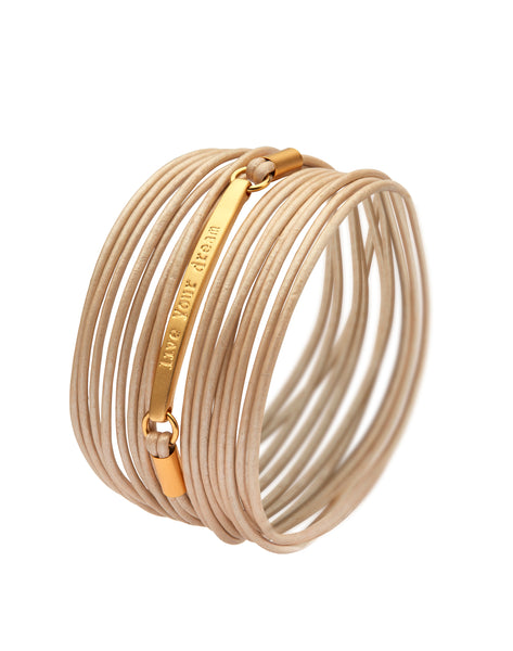 Golden plated Live Your Dream bracelet - SEA Smadar Eliasaf
