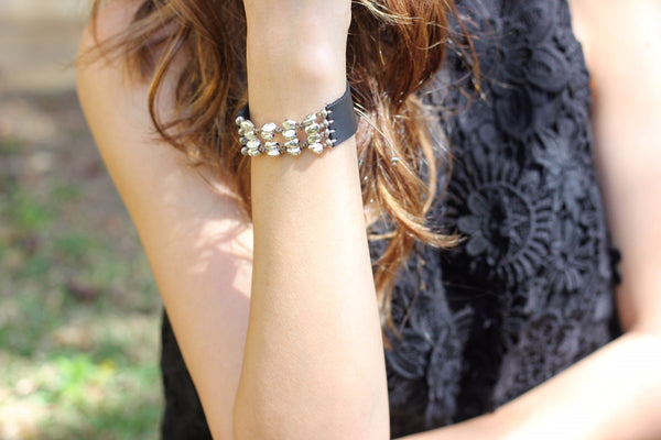 Wide Indie Bracelet - Golden - SEA Smadar Eliasaf
