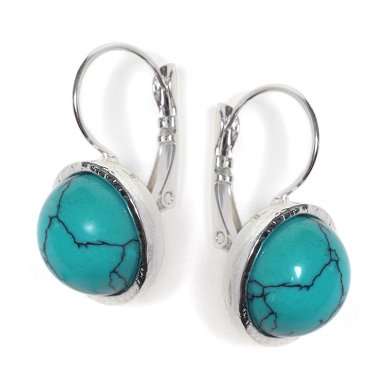 Classic Turquoise Earrings - SEA Smadar Eliasaf