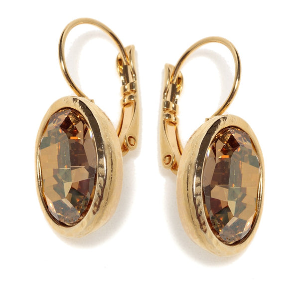 Golden Oval Earing