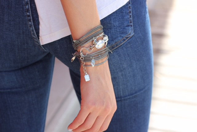 Dark Grey and sliver Ivy Bracelet - SEA Smadar Eliasaf
