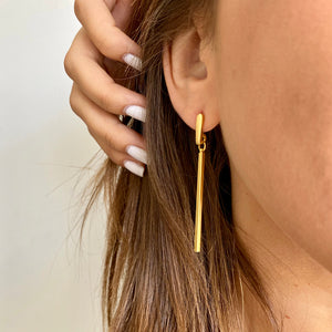 Golden Line Earrings - SEA Smadar Eliasaf