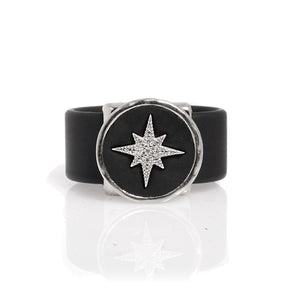 Star Leather Ring - Silver - SEA Smadar Eliasaf
