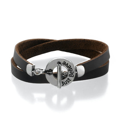 JUST BELIEVE Bracelet - Brown