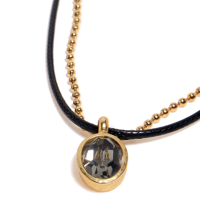 Black Diamond Swank Necklace - SEA Smadar Eliasaf
