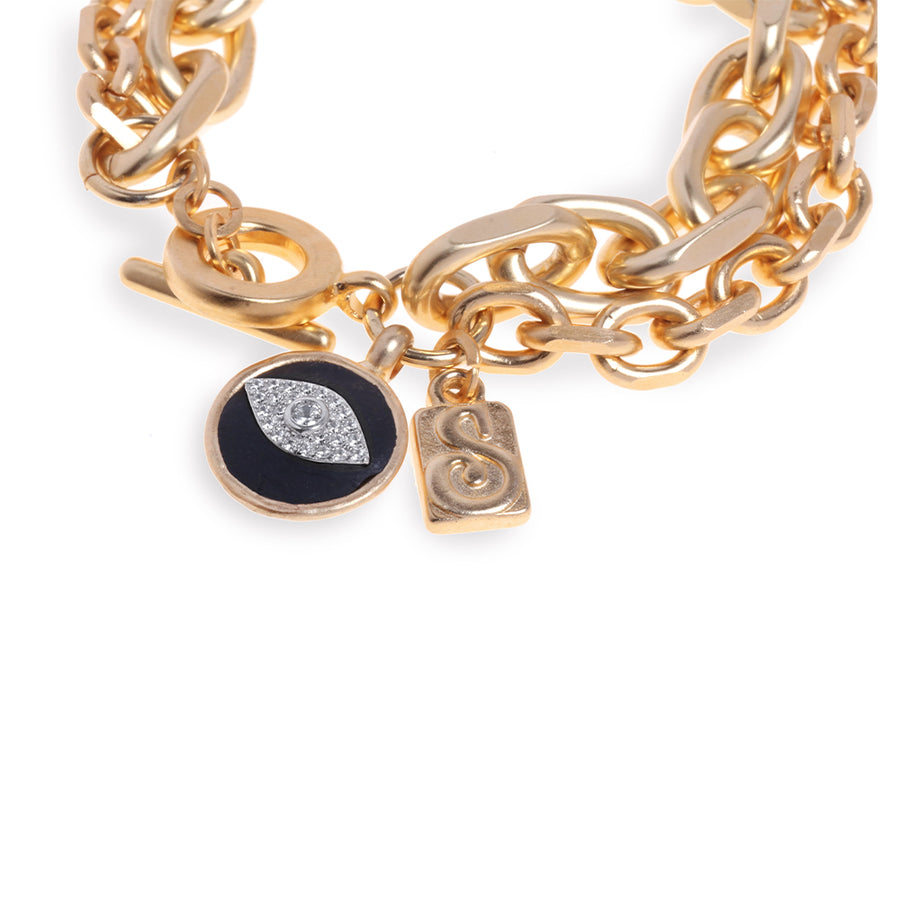 Beyoncé Golden Bracelet - Eye - SEA Smadar Eliasaf