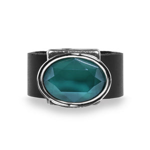 Eye Catching Turquoise Crystal Ring - SEA Smadar Eliasaf