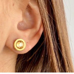 Golden Halo Earrings - SEA Smadar Eliasaf