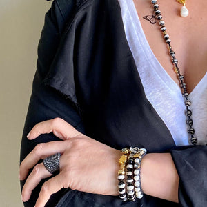 Black Tigress and Pearls Bracelet - SEA Smadar Eliasaf