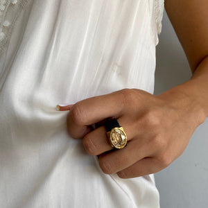 Eye Catching Golden Ring - SEA Smadar Eliasaf