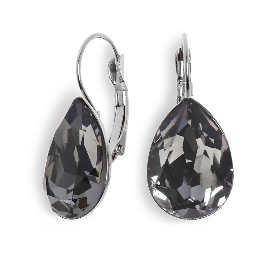 Date Night Earrings - Silver Black Diamond - SEA Smadar Eliasaf