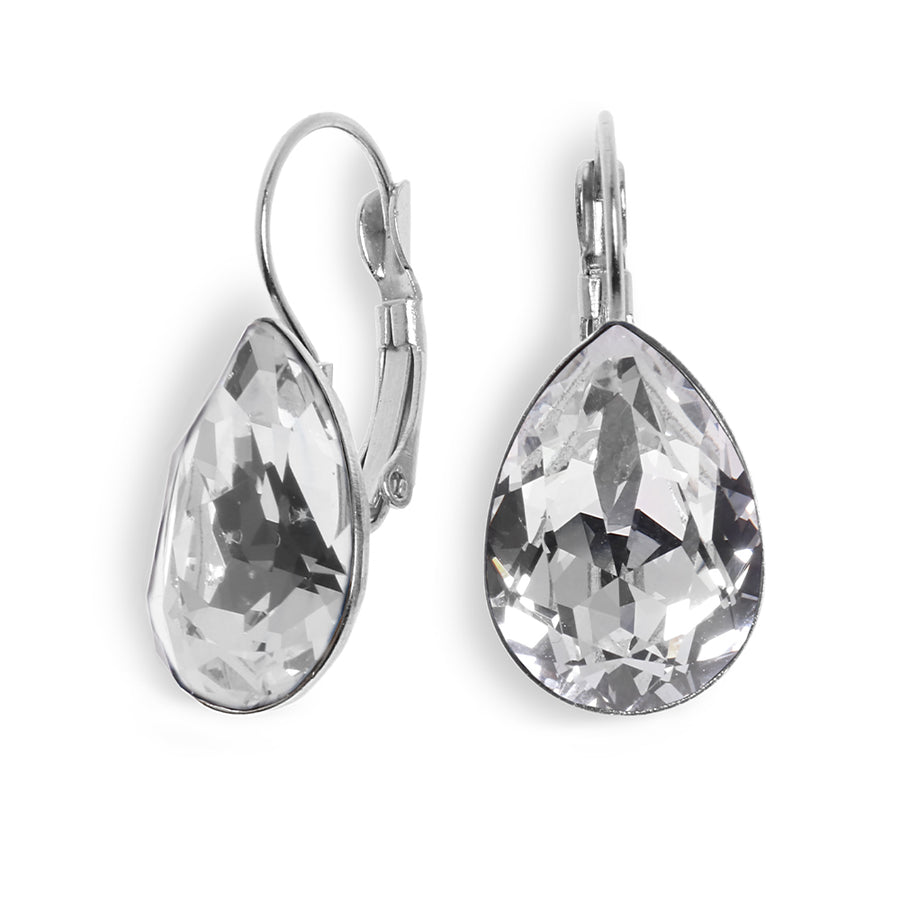 Date Night Earrings - Silver Clear Crystal - SEA Smadar Eliasaf