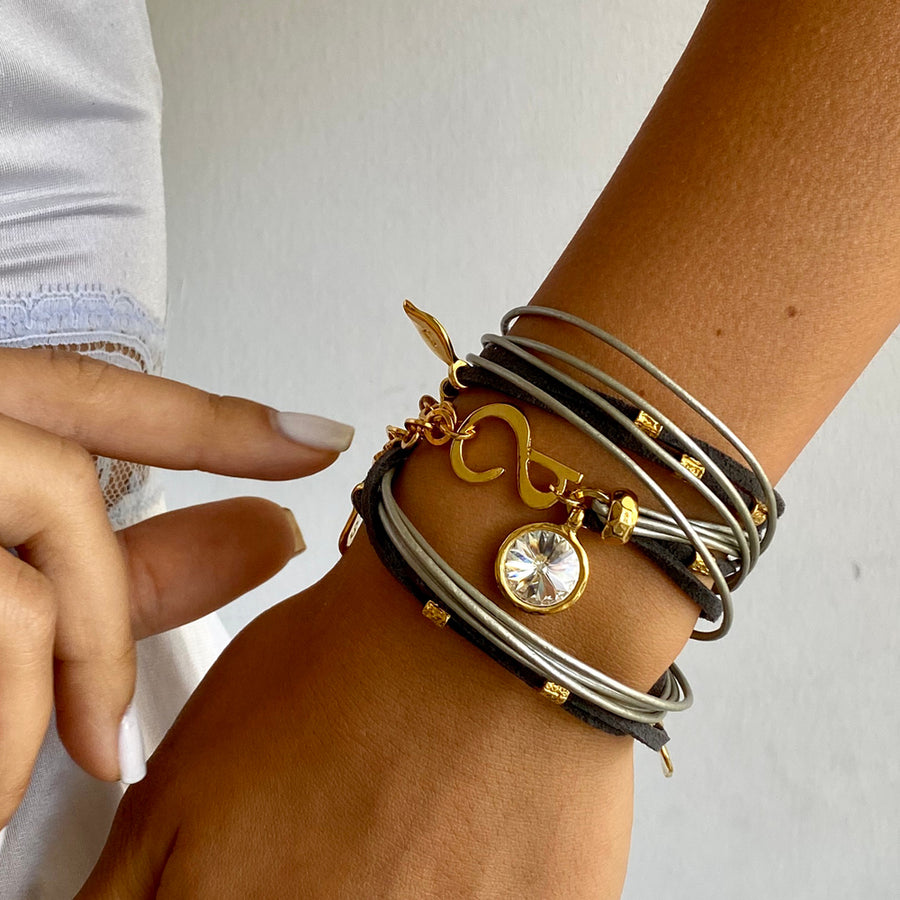 Light Grey Ivy Pop Bracelet - Gold - SEA Smadar Eliasaf
