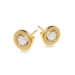 Clear Cryastal Halo Earrings - SEA Smadar Eliasaf