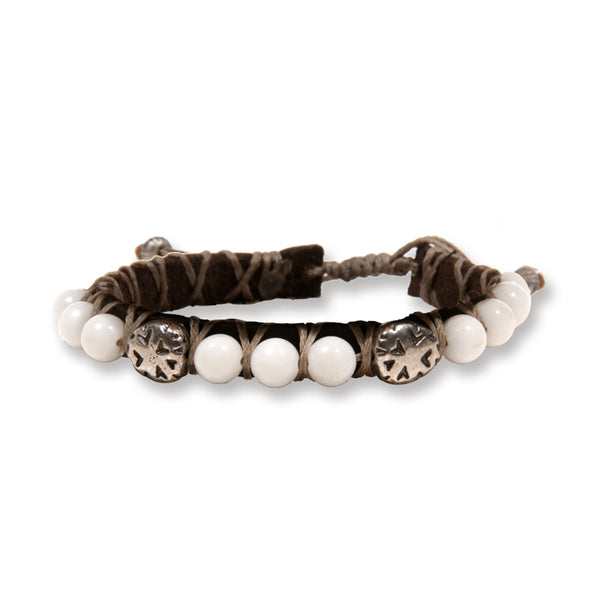White stones and Indian elements Bracelet